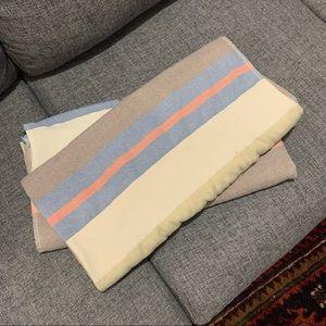Set of Turkish towels - blue pink cream